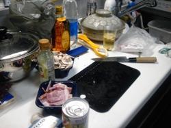 自宅で料理