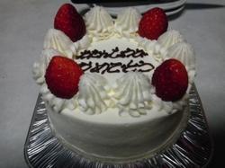 幸せの丘の誕生日ケーキ
